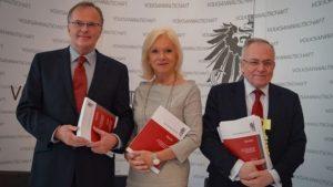 Volksanwälte Günter Kräuter, Gertrude Brinek und Peter Fichtenbauer.